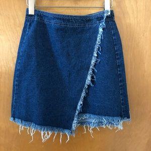 NWOT F21 Wrap Denim Skirt
